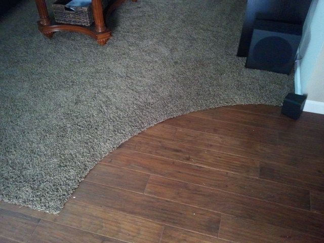 Carpet Transition To Curved Wood Carpet To Tile Transition