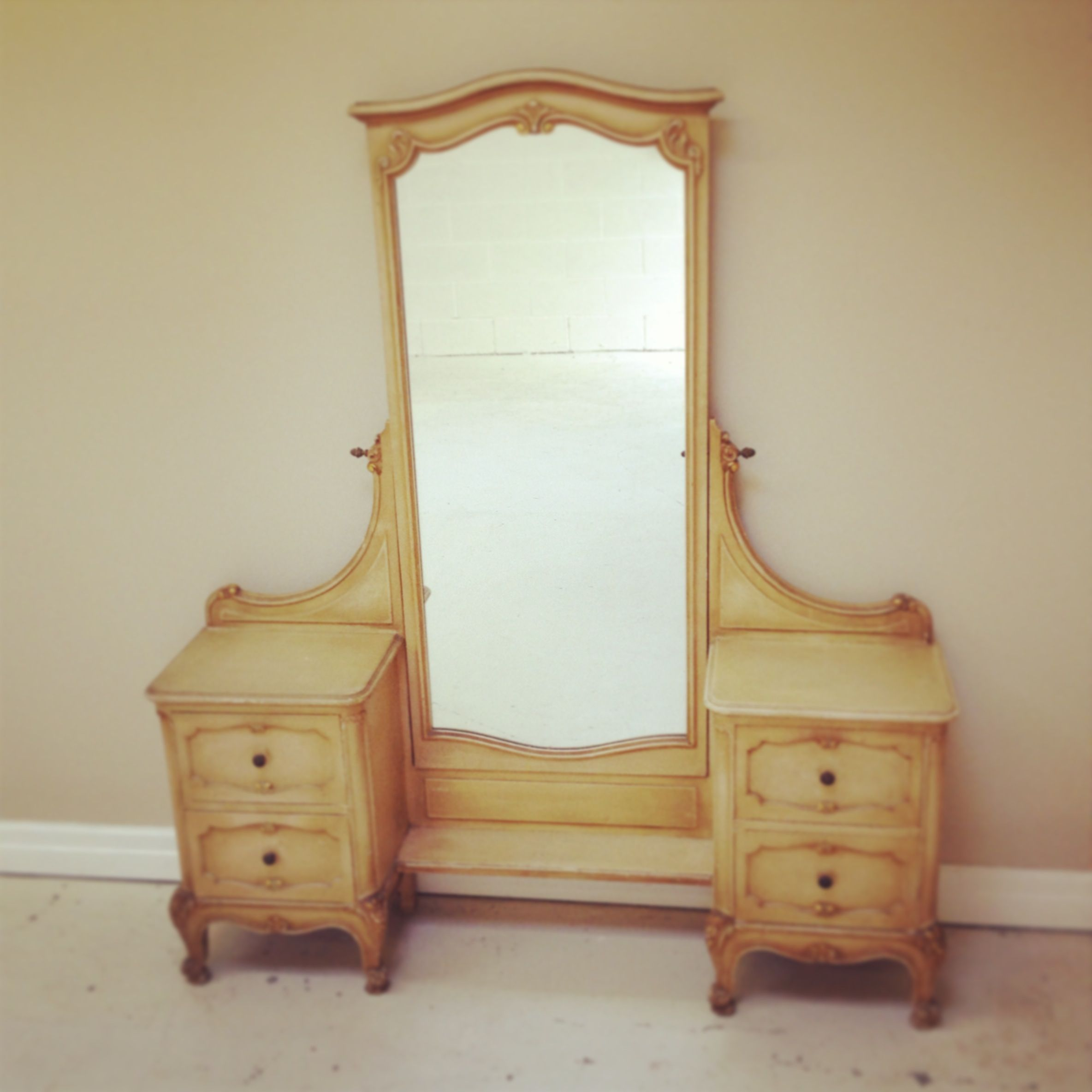 Vintage French Dressing Table Long Mirror Long Mirror Mirror Dressing Mirror
