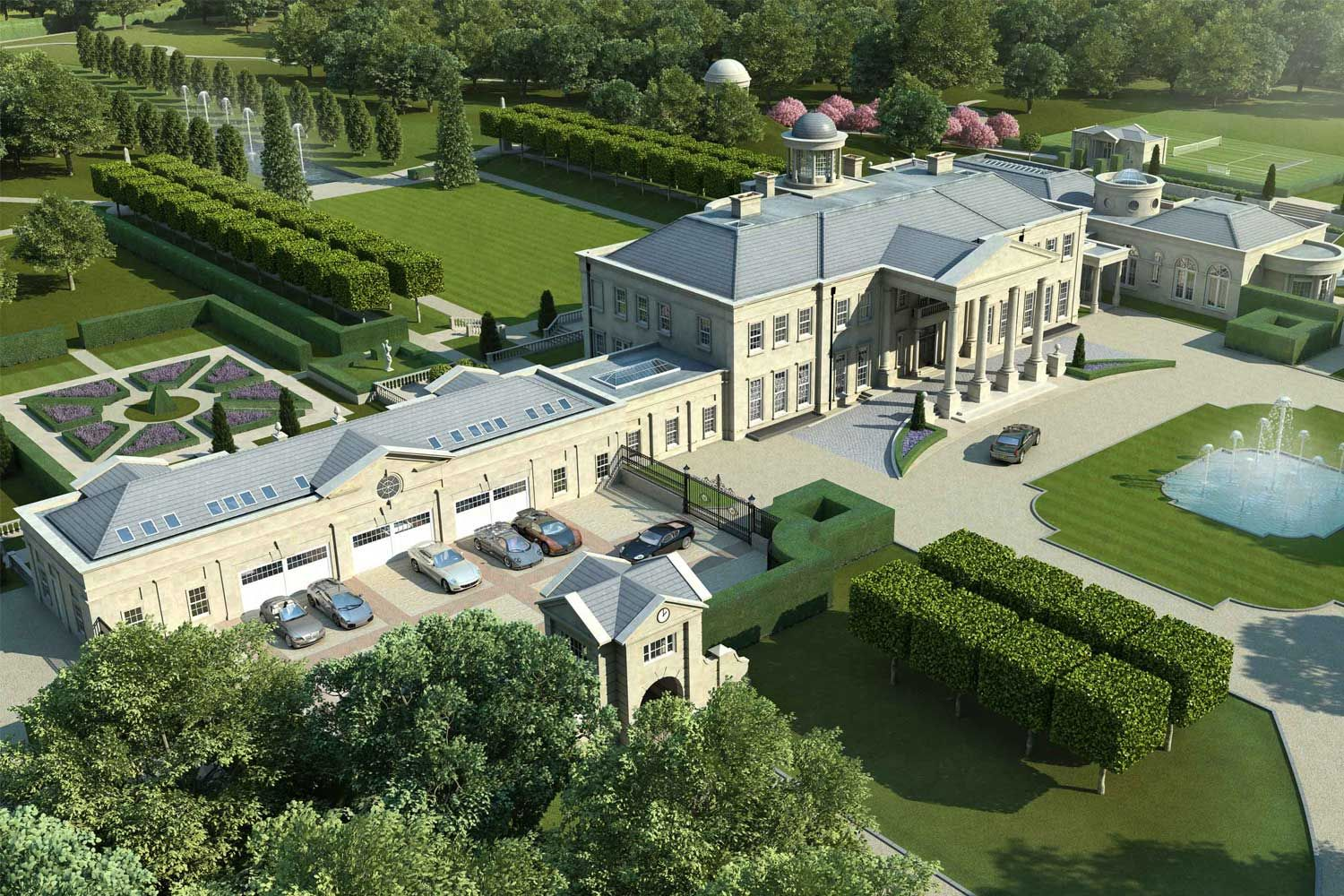 Artist impression of the side view of Windlesham House