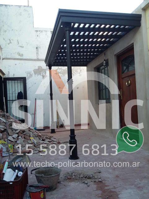 Techo De Policarbonato Pergolas Aleros Porche De Entrada