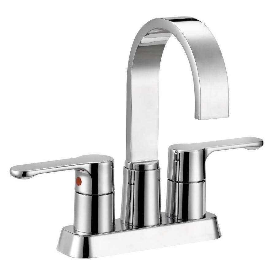 Safavieh Chrome 2 Handle 4 In Centerset Watersense Bathroom Sink