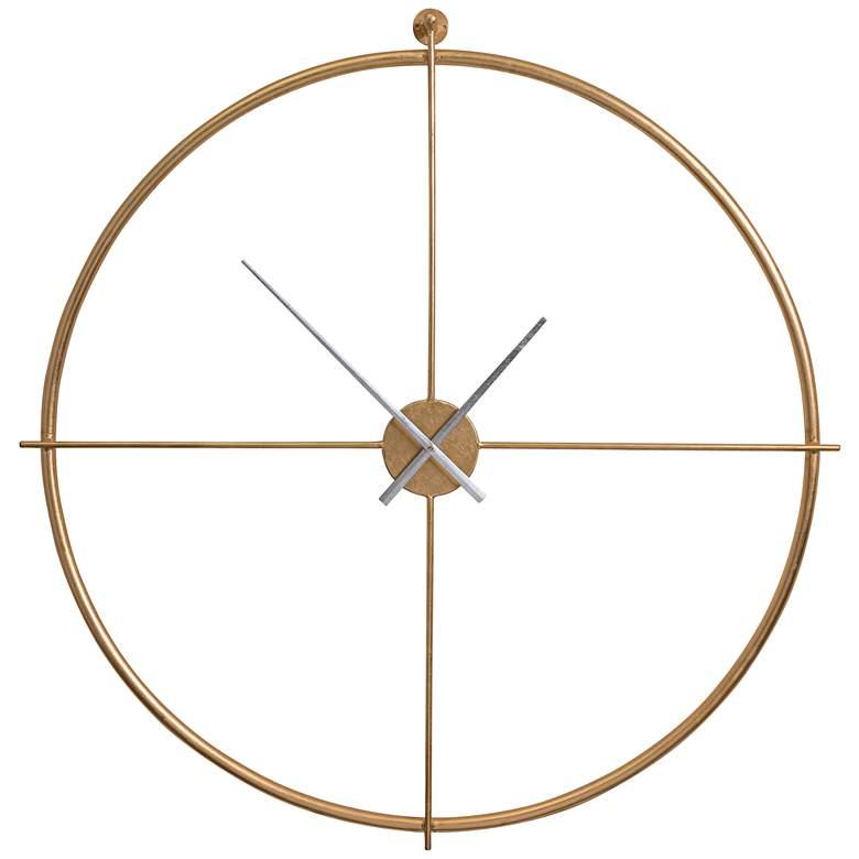 Cooper Classics Pine Gold Leaf 39 Wide Metal Wall Clock 35c65 Lamps Plus In 2020 Metal Wall Clock Wall Clock Oversized Wall Clock