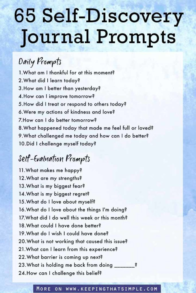 65 Journal Prompts for Self Discovery