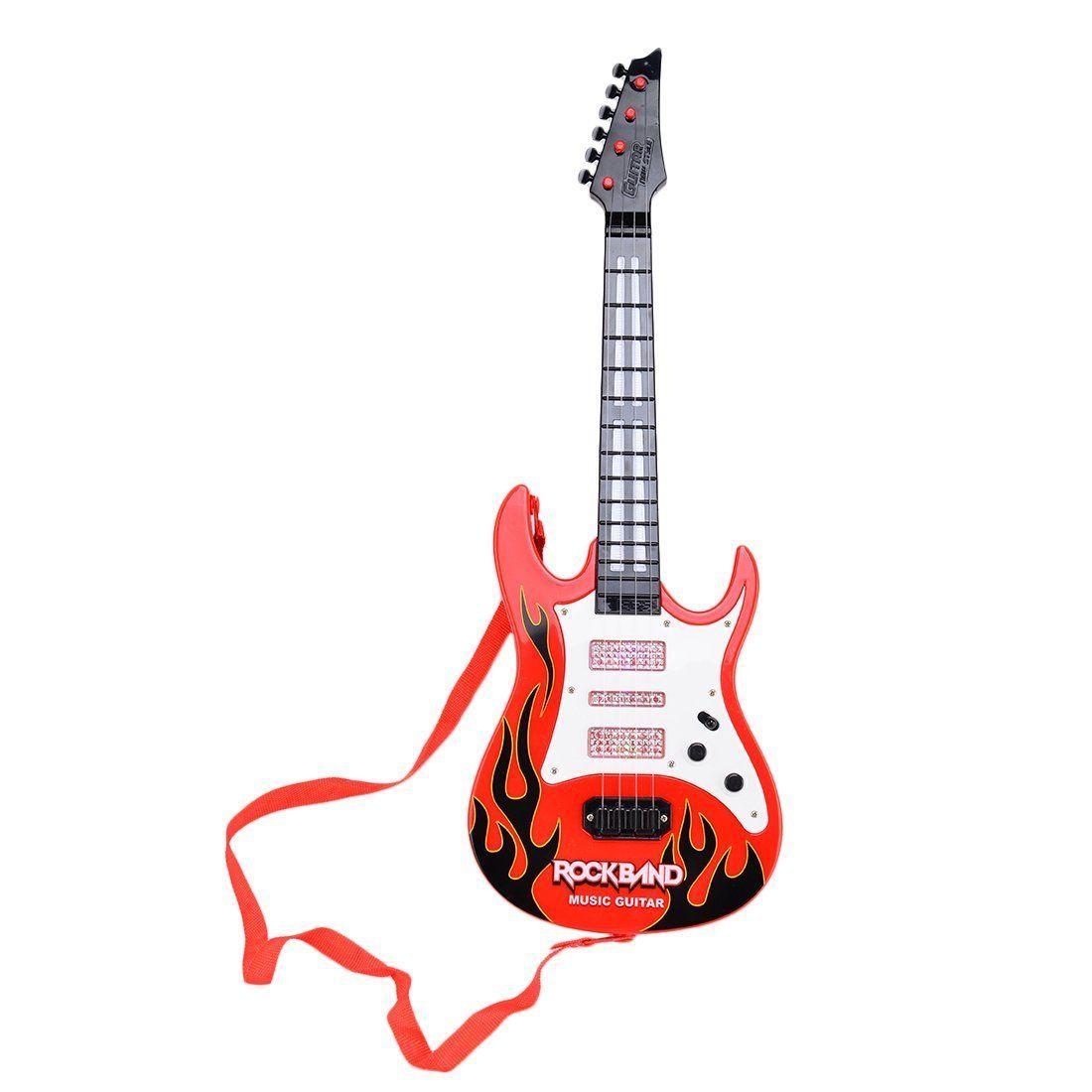 Der Spielzeugtester Hat Das Finer Shop Rock Band Music E Gitarre 4 Streicher Kinder Musikinstrumente Padagogisches Spielzeug In 2020 E Gitarre Gitarre Musikinstrumente