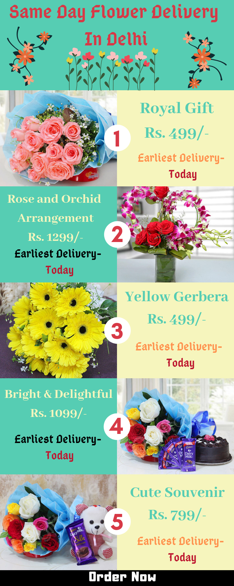 Beautiful Flower Delivery Service On Same Day Delhi