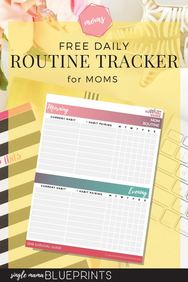 free daily routine tracker for moms organize time management