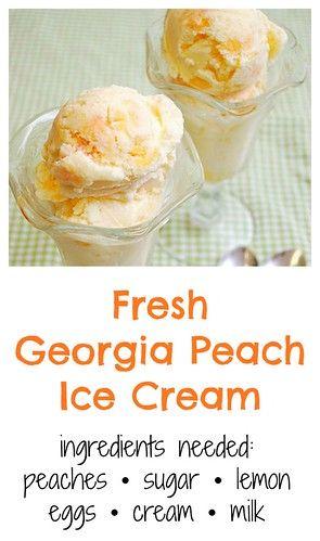 Fresh Georgia Peach Ice Cream