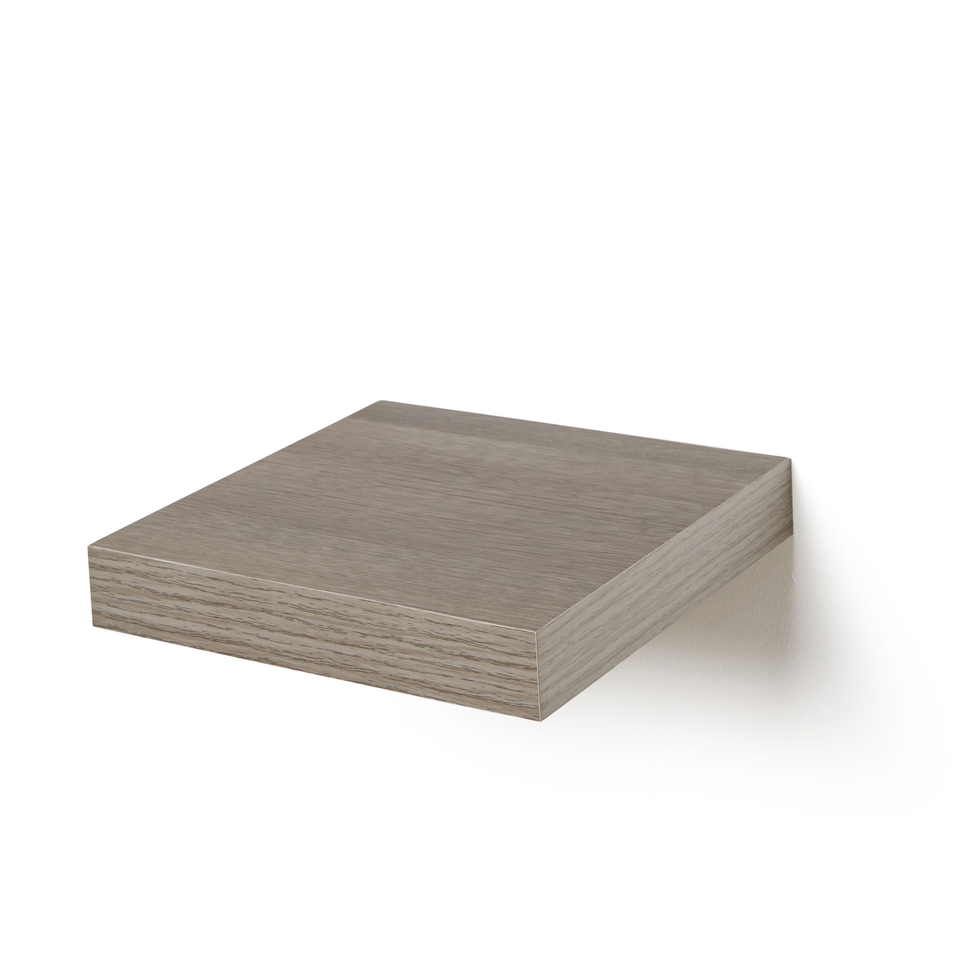 grey oak effect floating shelf l 237mm d 237mm departments diy rh pinterest nz floating shelves beechwood floating shelves brackets