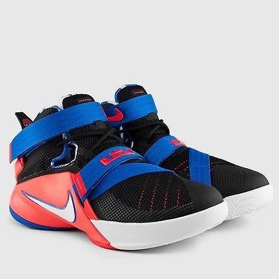 8bae1be986f Nike Lebron Soldier IX Gs Big Kids 776471-015 Black Crimson Shoes Youth  Size 4.5