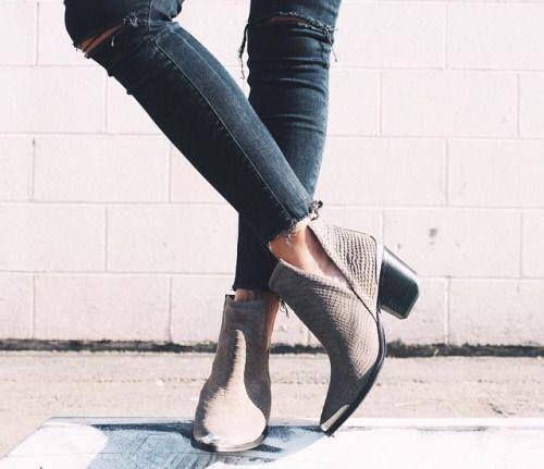 Shoes Bico Bloco Dumond Salto Preta Fino Cano Curto Bota w1FOHUO