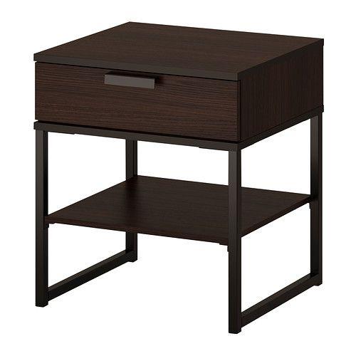 TRYSIL Sängbord mörkbrun svart IKEA 299 Uffe Pinterest Mörkbrun, Ikea och Svart