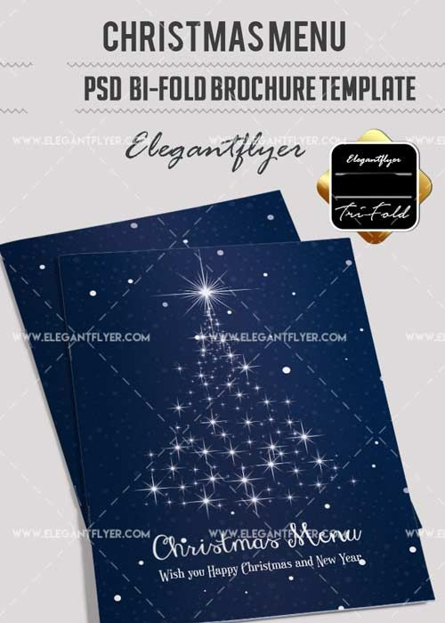 Christmas Menu V17 2017 Bi-Fold PSD Brochure Template Free - christmas menu word template