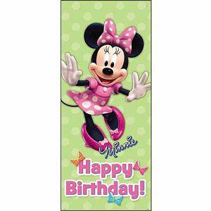 Minnie Mouse Birthday Door Poster 60 X 27