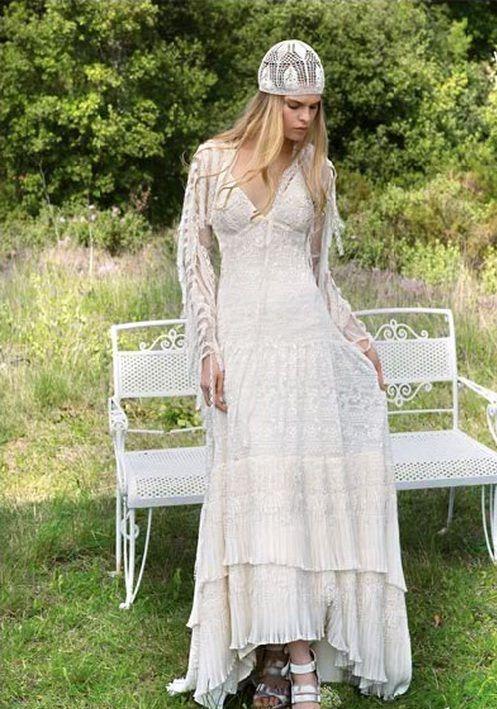 bohemian weddings bridal wedding dresses bohemian wedding dresses hippie kleider. Black Bedroom Furniture Sets. Home Design Ideas
