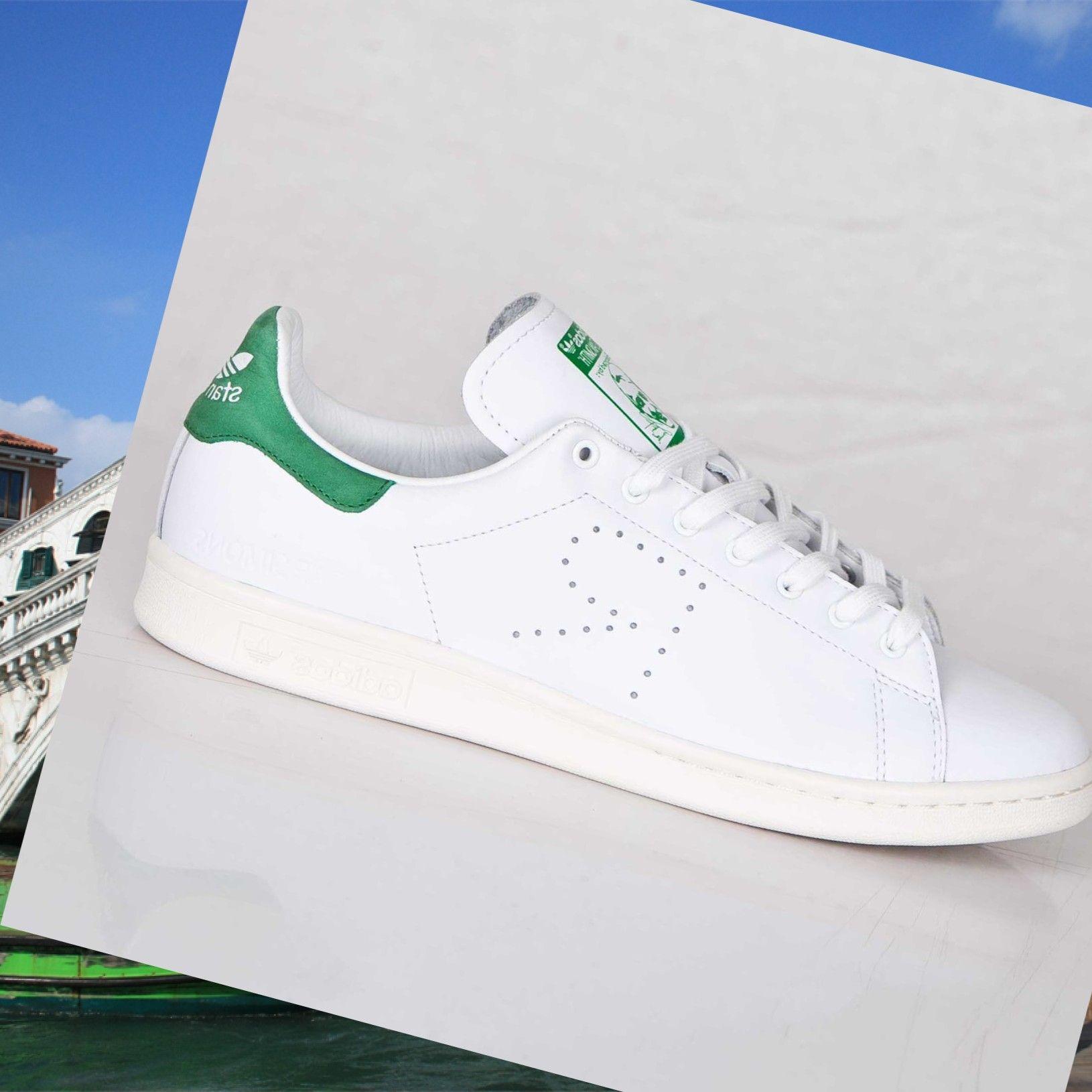 Uomini, abbigliamento Raf Simons x Adidas Stan Smith Ftw Bianco/Verde