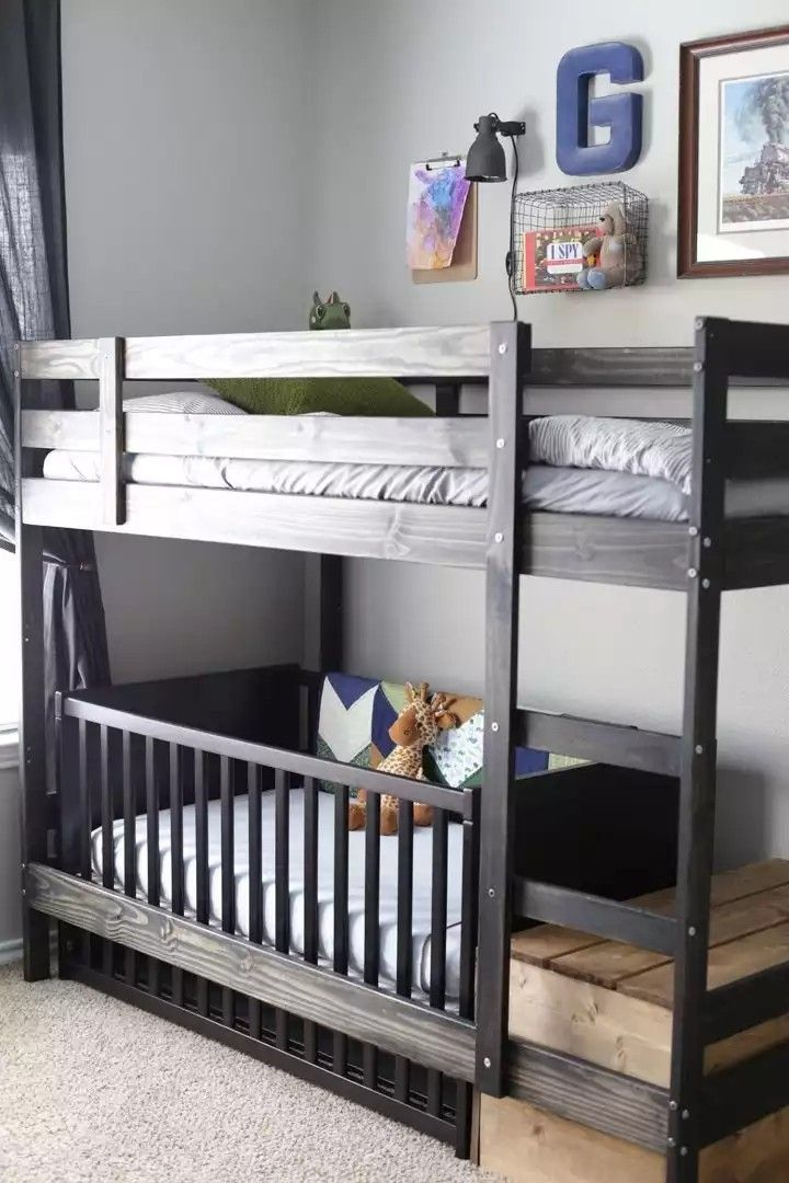 81cm Clearance Underneath Kura Bed Measurements I M Thinking Paint To Match Rest Of Room Assemble With Ladder T Bed Fort Ikea Bunk Bed Bunk Beds With Stairs