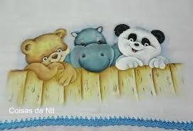 Resultado de imagem para pintura em tecido fraldas