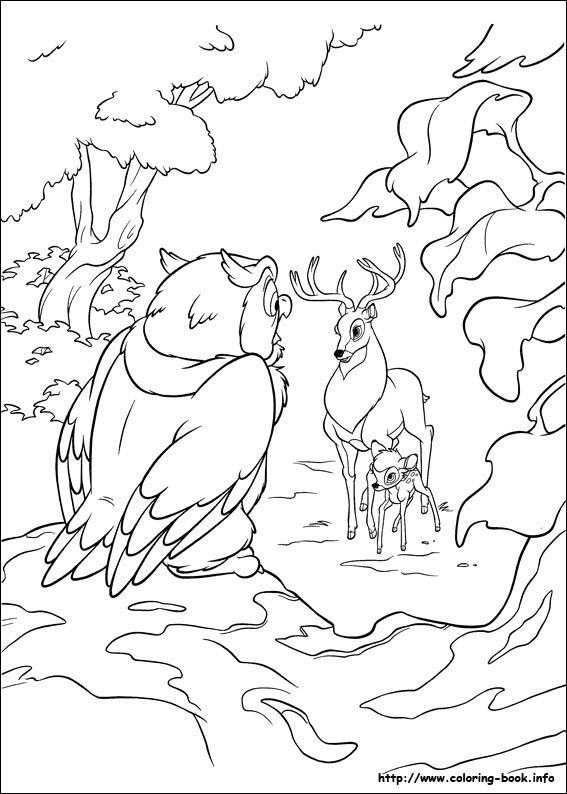 Bambi 2 coloring picture | Disney Dumbo Coloring Pages | Pinterest