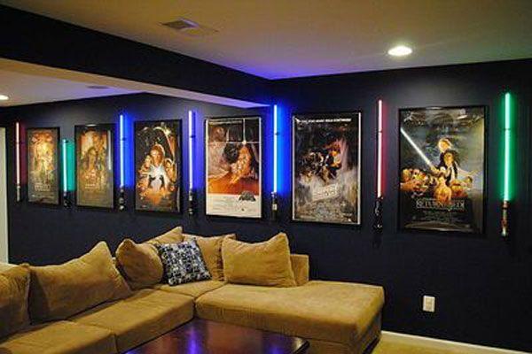 Small Dallas Cowboys Theater Room Designs