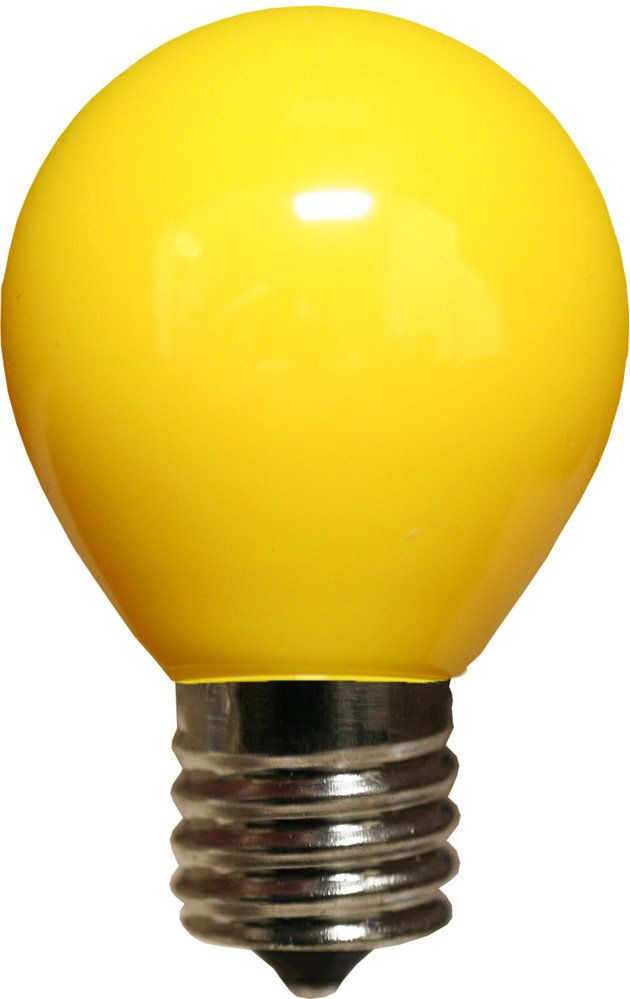 E17 Patio And Party Light Bulbs S11 Opaque Yellow 10 Watt Replacement Bulbs Christmas Lights Etc Bulb Yellow Sign Light