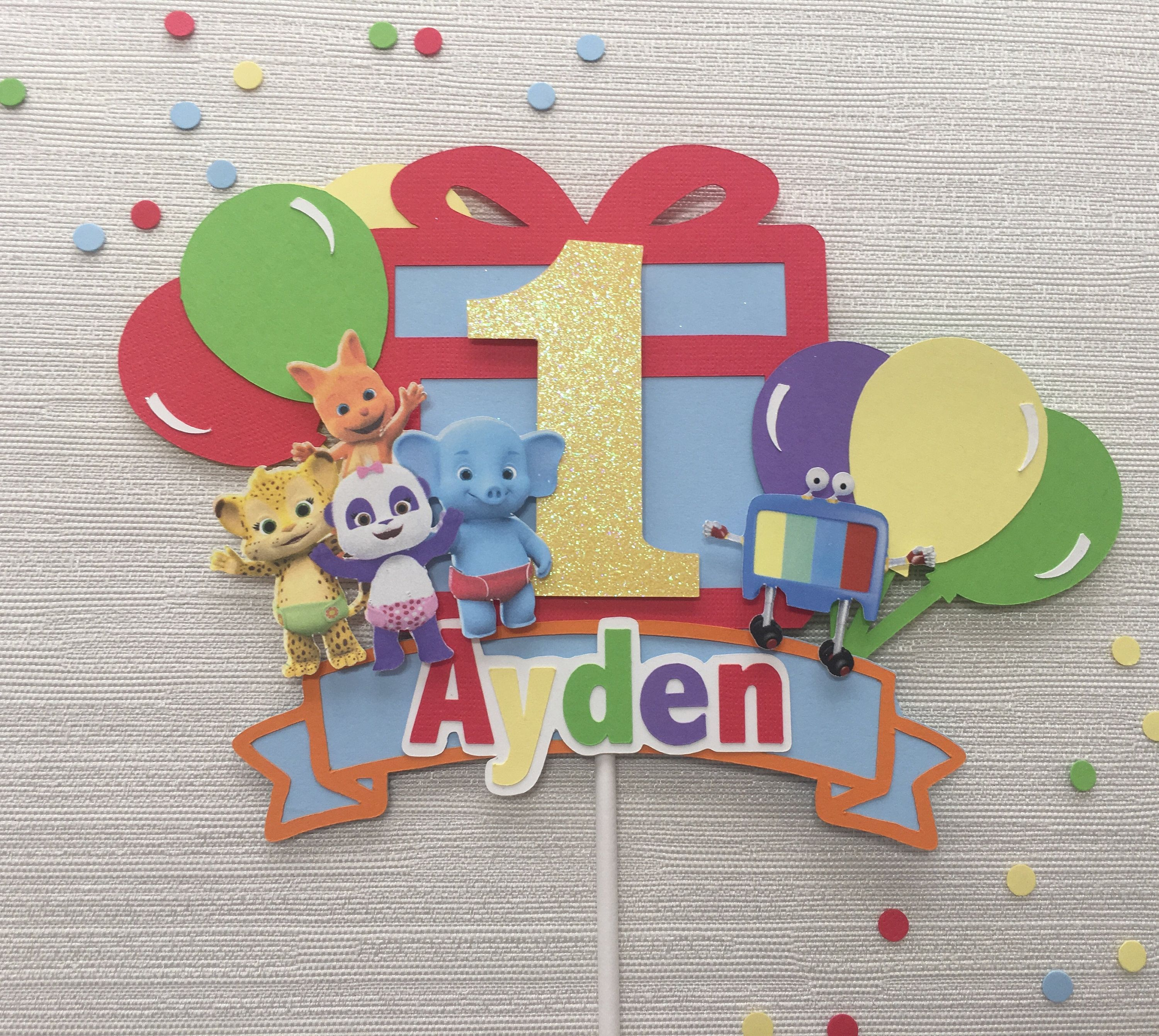 Word Party Inspired Cake Topper   Etsy in 2020   Party ...