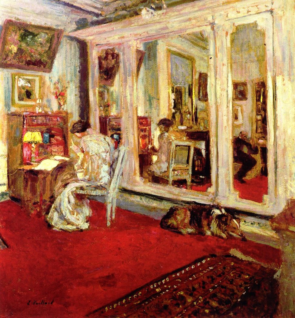 The Hessels in Their Dressing Room  Edouard Vuillard -