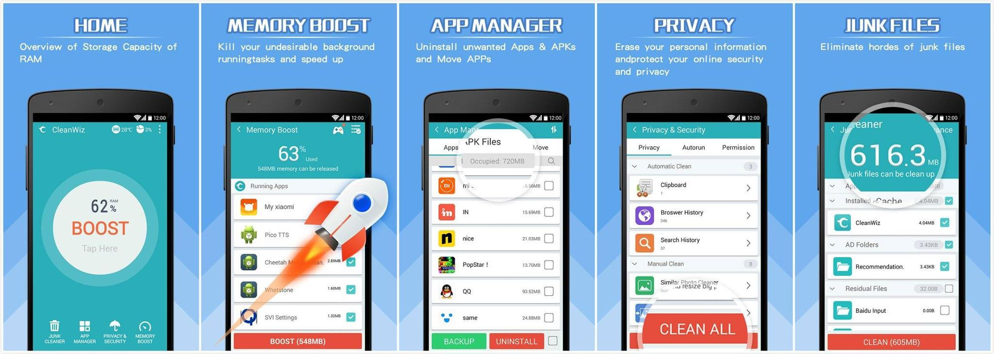 CleanWiz is the best cleaning tool to keep your Android ...