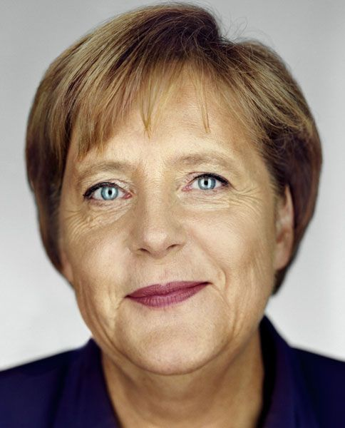 Angela Merkel ~ Chancellor of Germany (2005- )   photographed by Martin Schoeller