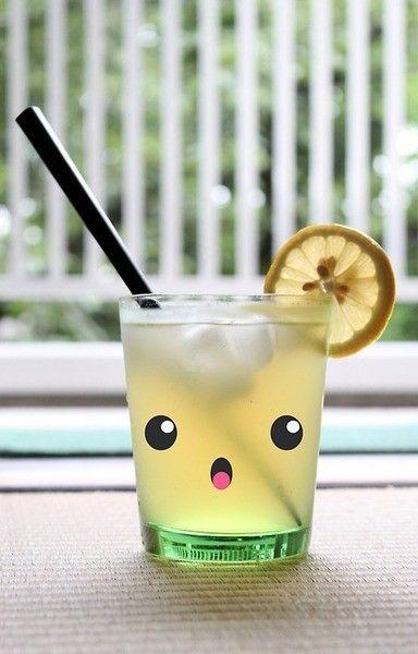 Kawaii lemonade #beverage #kawaii