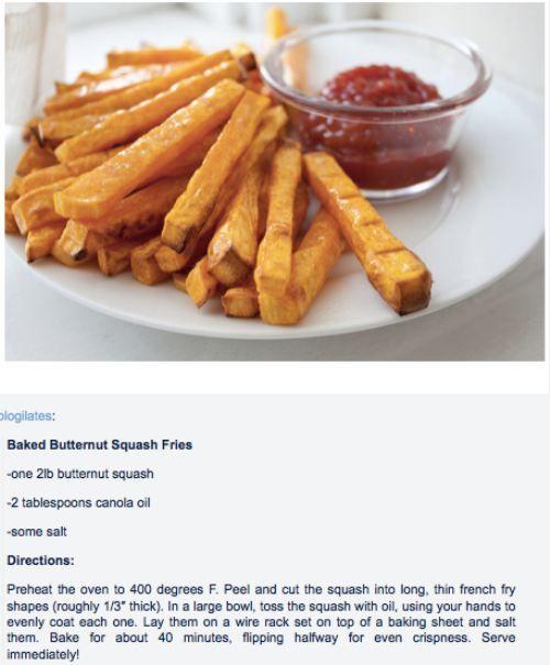 Calabaza en vez de patatas fritas hechas en el horno con - Cocinar calabaza frita ...
