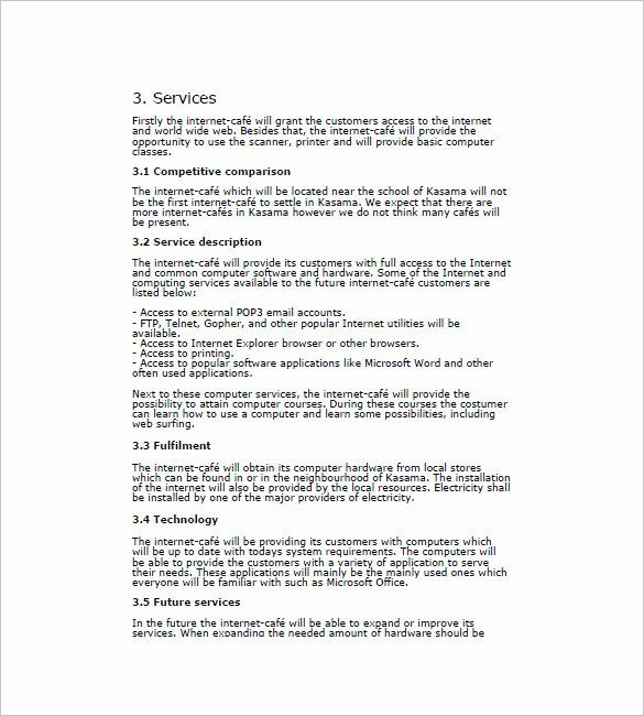 Cafe Business Plan Template New Contract Transition Plan ...