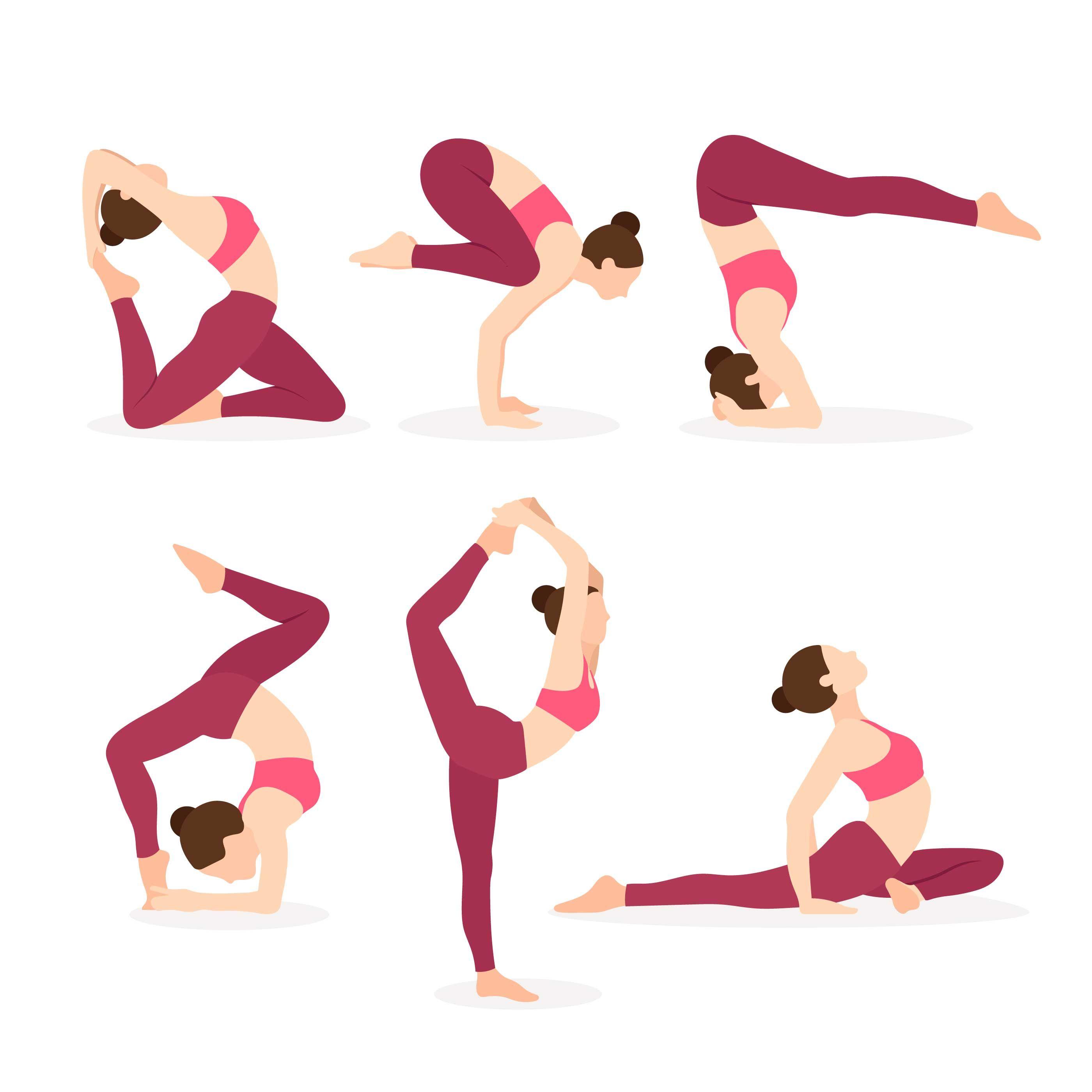 Pin On Yoga Exercise Workout Illustration