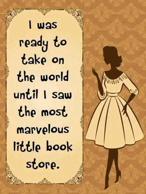 I can never resist a bookstore!