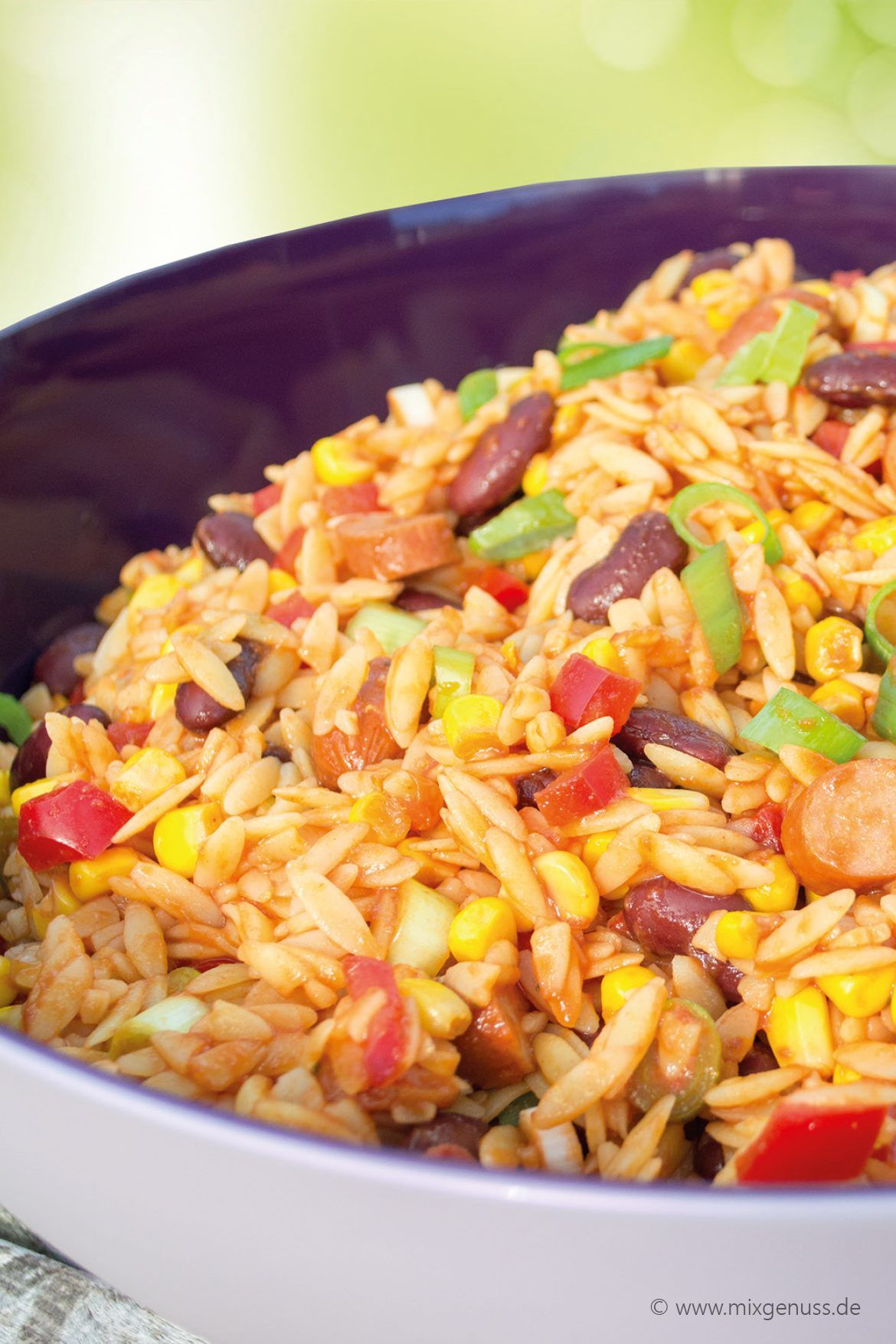 Mexikanischer Reisnudelsalat #mexicanrecipeswithchicken
