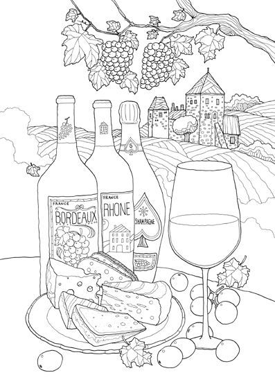 Coloring Europe Vive La France I Waves Of Color Coloring Pages Coloring Books Food Coloring Pages