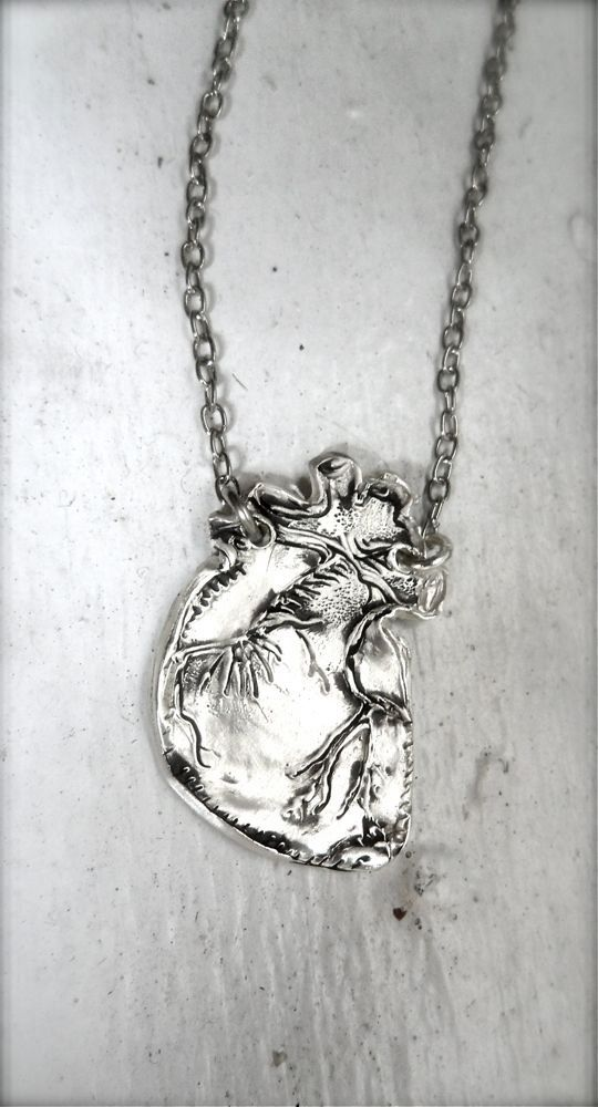anatomical heart necklace by @SkyKoltun...can i get one of these`but ...