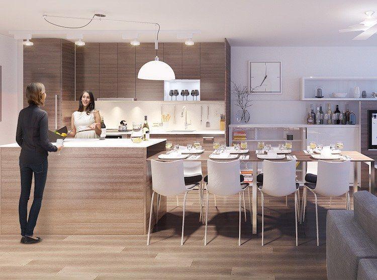code cuisine lot central table manger 2 en 1 pour optimiser l 39 espace ilot central table