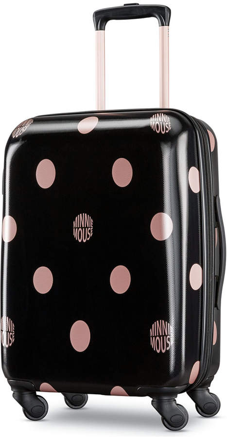 American Tourister Minnie Mouse Dots 21 Carry On Spinner Suitcase Best Carry On Luggage Hardside Spinner Luggage American Tourister