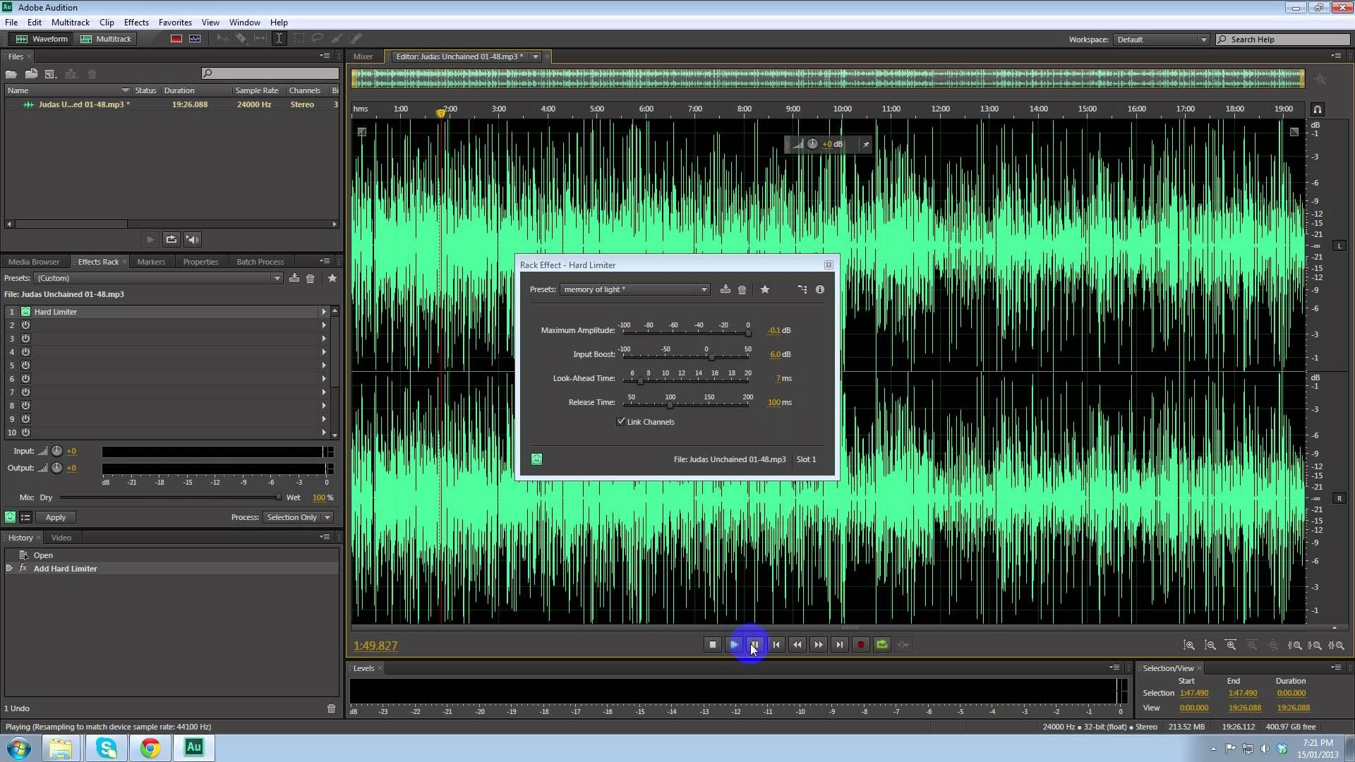 How To Make A Audio File Louder Using Adobe Audition Cs6 Adobe Audition Audition Audio