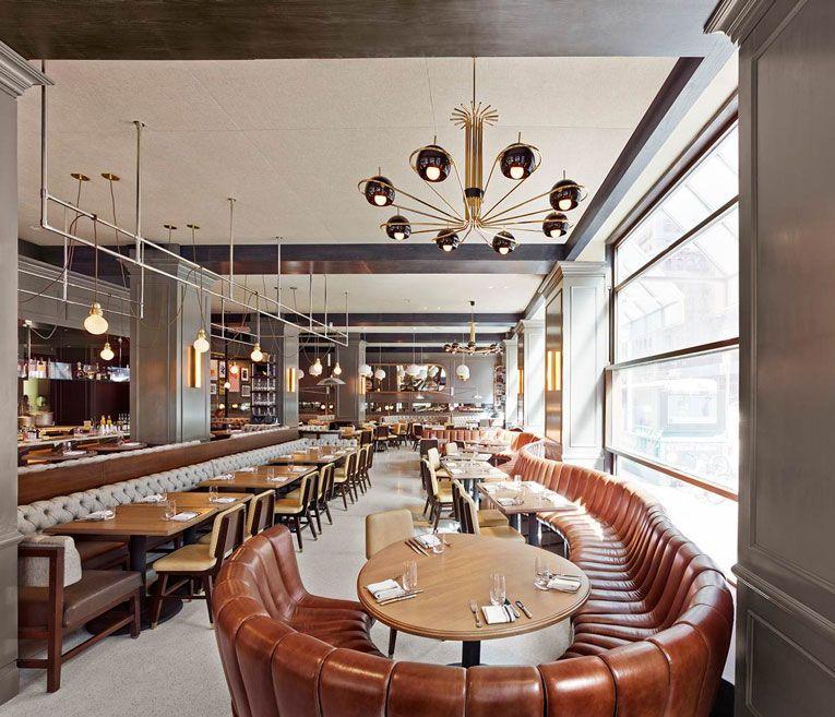 New York The Wayfarer Restaurant Opening Chandelier In Living