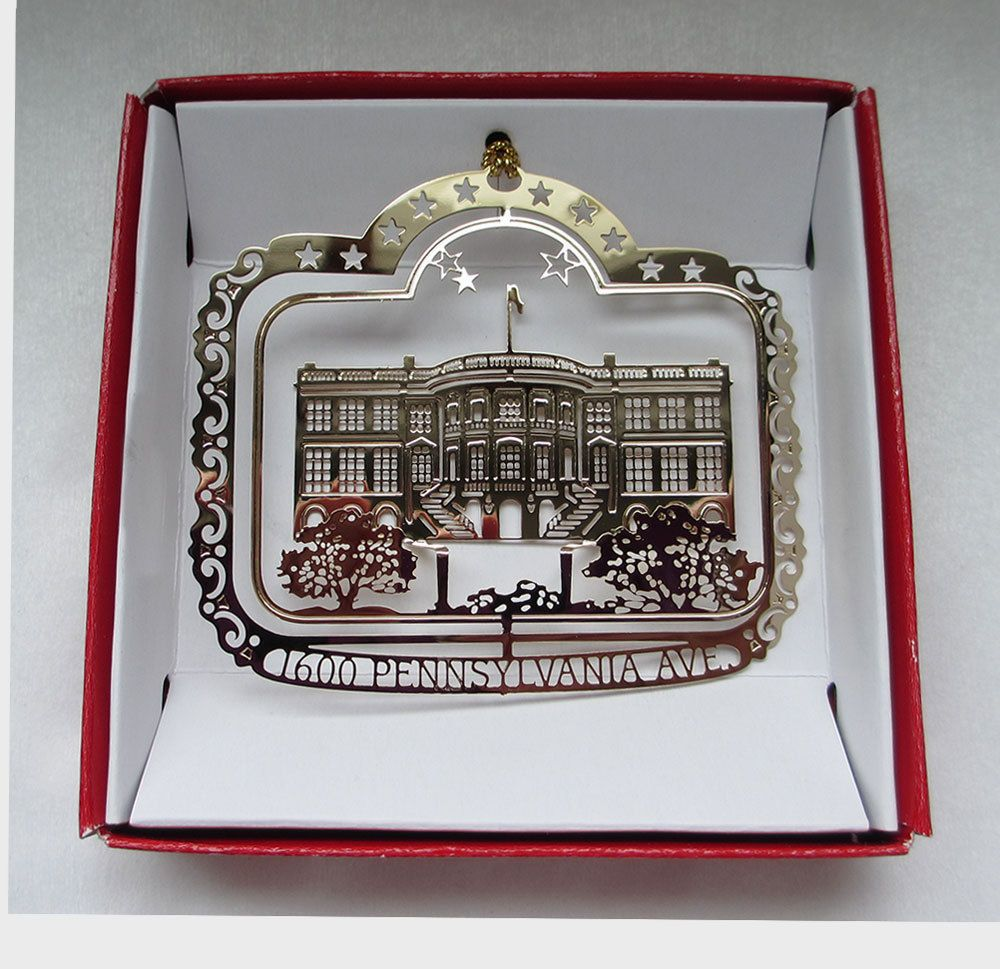 White house christmas ornaments 1993 - The White House Christmas Ornament Washington D C Brass City State Souvenirs
