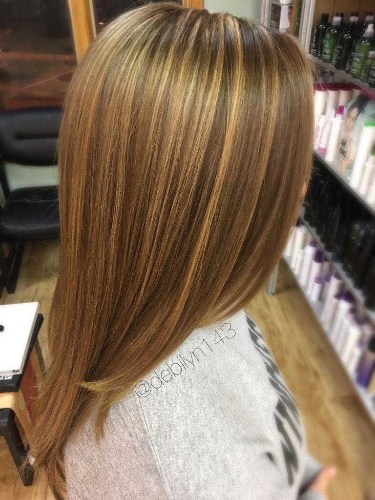 Warm caramel highlights for brown hair types // fall winter hair ...