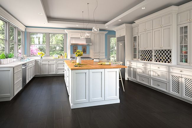 Superb Thompson White Cabinets By Kitchen Cabinet Kings