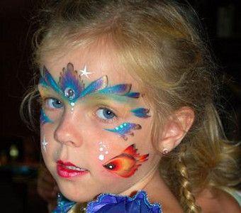 Аквагрим для детей и взрослых,алматы | Схемы раскраски лиц ...