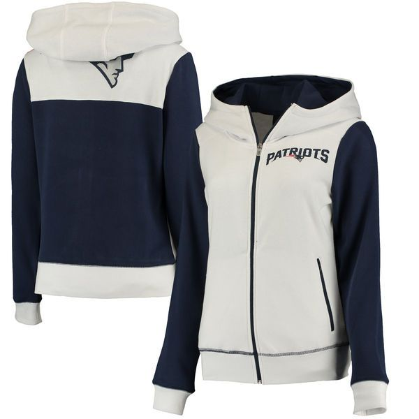 New England Patriots G-III 4Her by Carl Banks Women's Franchise Full-Zip Hoodie…