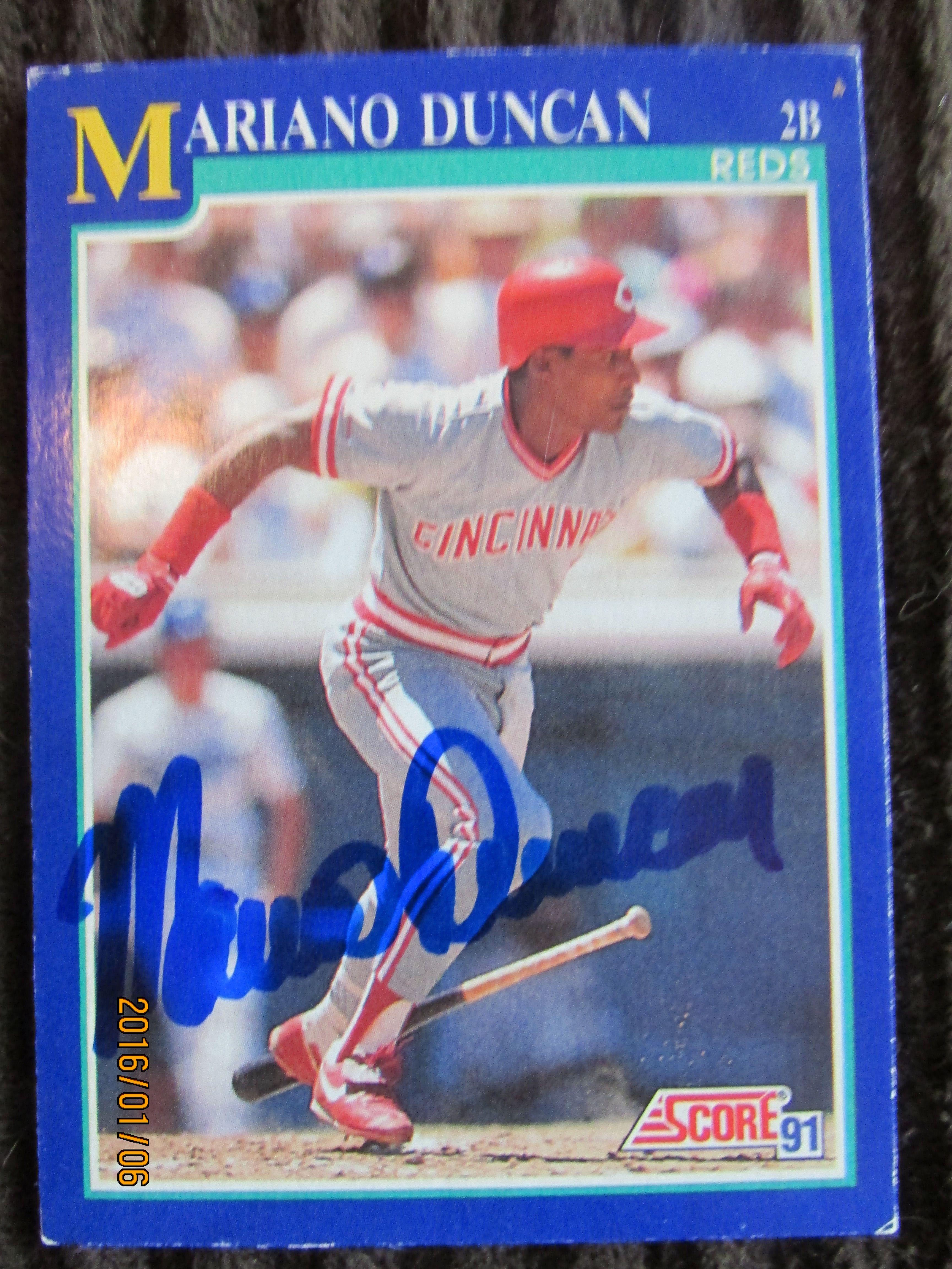 1991 score 479 mariano duncan ttm scores baseball