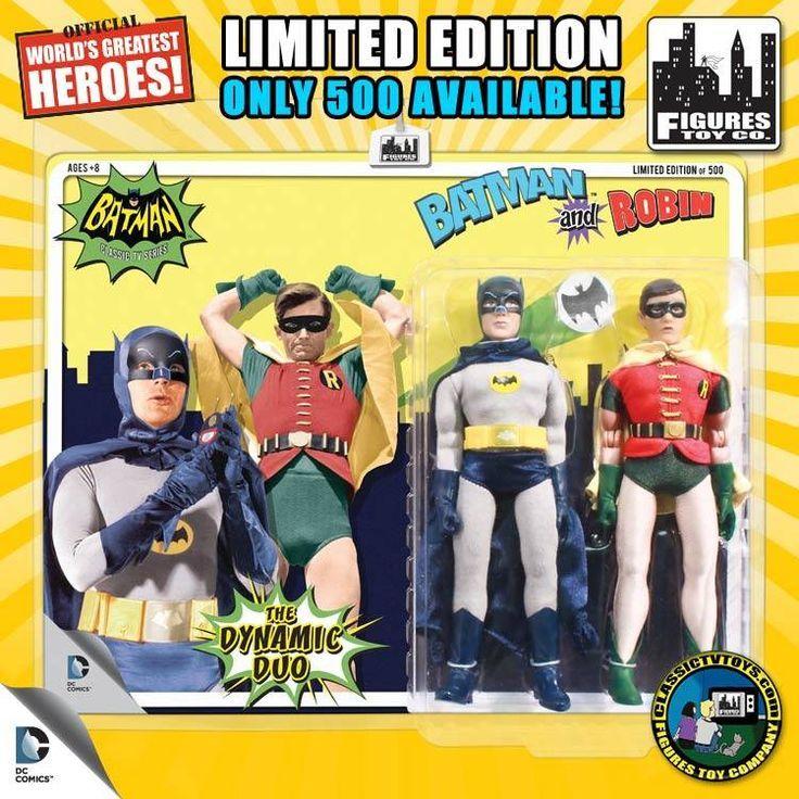 309 - 8 inch Batman & Robin figures (2015 FTC Classic TV Series Line)