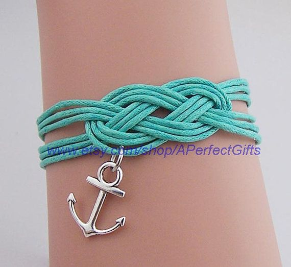 Anchor bracelet Wholesale 20 color hand-woven Infinity bracelet Small anchor Sailor jewelry Couple Daily jewelry Unisex bracelet by APerfectGifts, $2.99