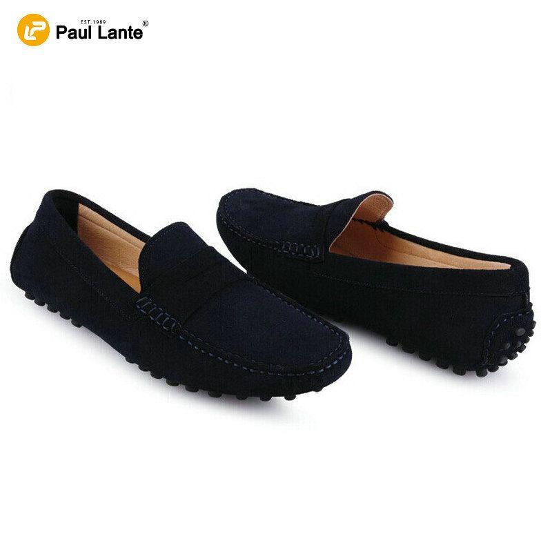 2016 marca Casual cuero mocasines de piel para hombre negro zapatos del  barco…