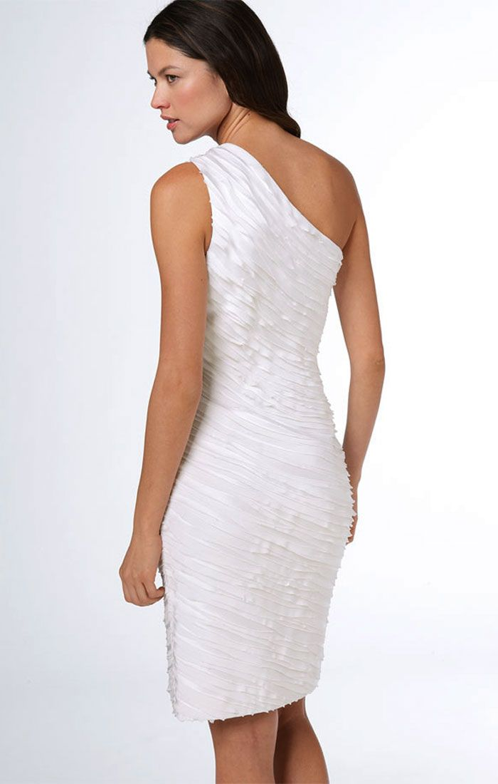 Calvin Klein One Shoulder White Dress